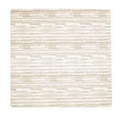 Tadpoles 4 pc 24-Inch Wood Grain Print Foam Playmat Set