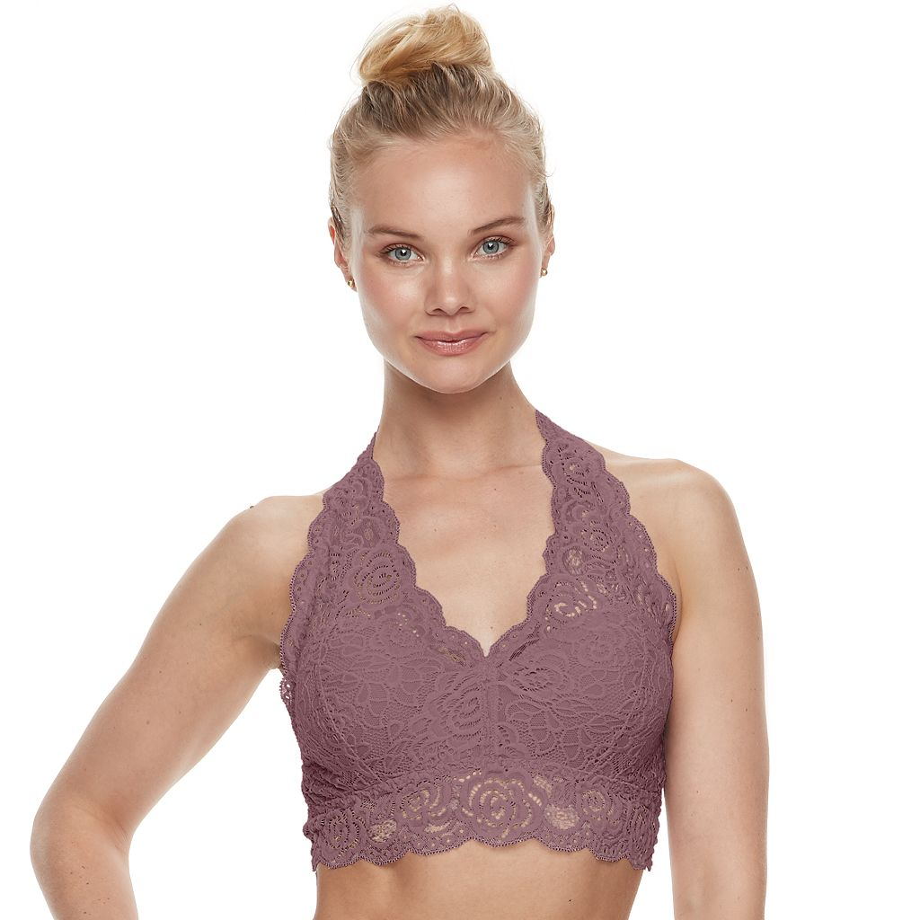 Juniors' Mudd® Lace Halter Bralette