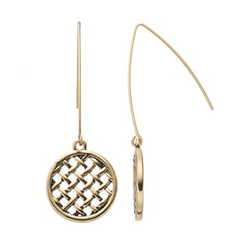 Dana Buchman Woven Disc Nickel Free Threader Earrings