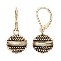 Dana Buchman Antiqued Ball Nickel Free Drop Earrings