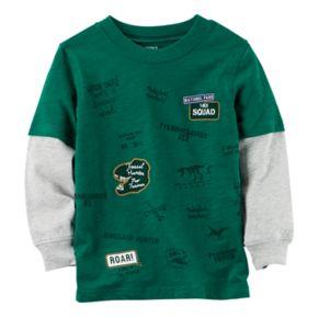 "Toddler Boy Carter's ""T-Rex Squad"" Dinosaur Mock Layer Graphic Tee"
