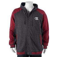 Big & Tall Champion Modern-Fit Colorblock Hooded Fleece Jacket