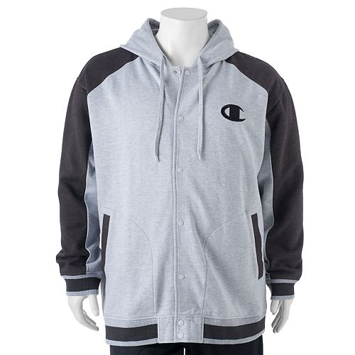 16afda48dfcac Big   Tall Champion Modern-Fit Colorblock Hooded Fleece Jacket