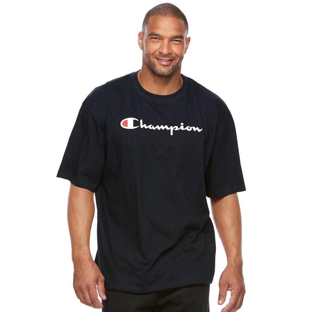 Big & Tall Champion Modern-Fit Logo Tee