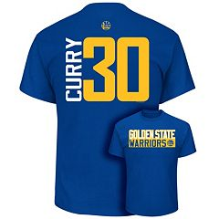 Men's Majestic Golden State Warriors Stephen Curry Player Name and Number Tee