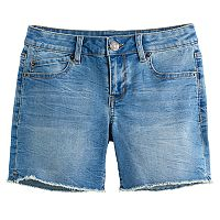 Girls 7-16 Mudd® Midi Denim Boyfriend Shorts