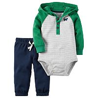 Baby Boy Carter's Hooded Henley Bodysuit & Pants Set