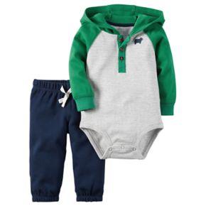 Baby Boy Carter's Hooded Henley Bodysuit & Pants Set