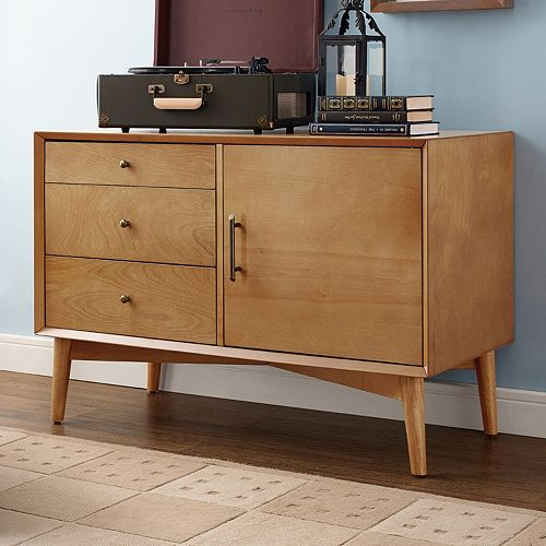 Crosley Furniture Landon Small Storage Console Table