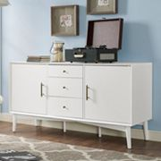 Crosley Furniture Landon Large Storage Console Table