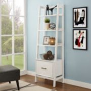 Crosley Furniture Landon Small Ladder Bookshelf