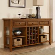 Crosley Furniture Sienna Wine Rack Console Table