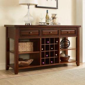 Crosley Furniture Sienna Wine Rack Console Table