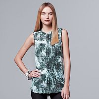 Women's Simply Vera Vera Wang Smocked Shoulder Blouse