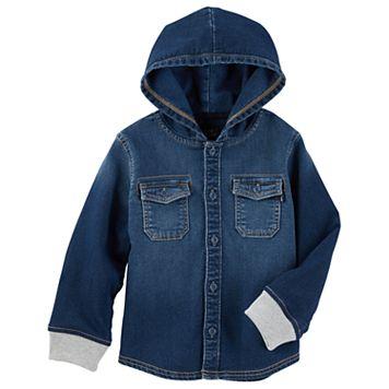 Toddler Boy OshKosh B'gosh® Hooded Denim Shirt
