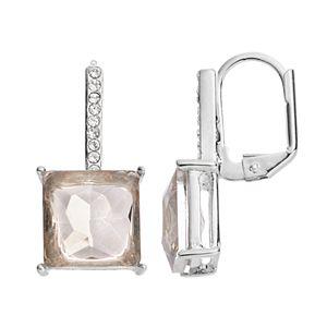 Jennifer Lopez Simulated Crystal Square Drop Earrings