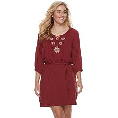 Women's SONOMA Goods for Life™ Embroidered Peasant Dress