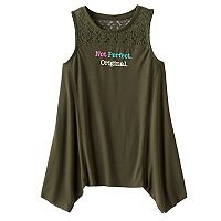 Girls 7-16 & Plus Size Mudd® Crochet Lace Yoke Sharkbite Tank Top