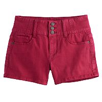 Girls 7-16 Mudd® High-Rise Shortie Shorts