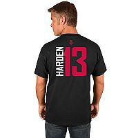 Men's Majestic Houston Rockets James Harden Name and Number Tee