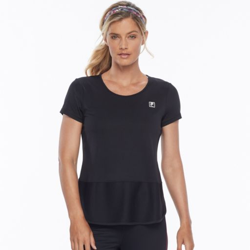 Women's FILA SPORT® Mesh Block Short Sleeve Tee