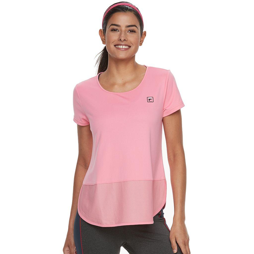 Women's FILA SPORT® Mesh Block Short Sleeve Tee