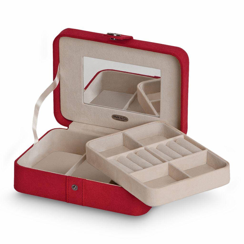 Mele & Co Plush Fabric Travel Jewelry Box