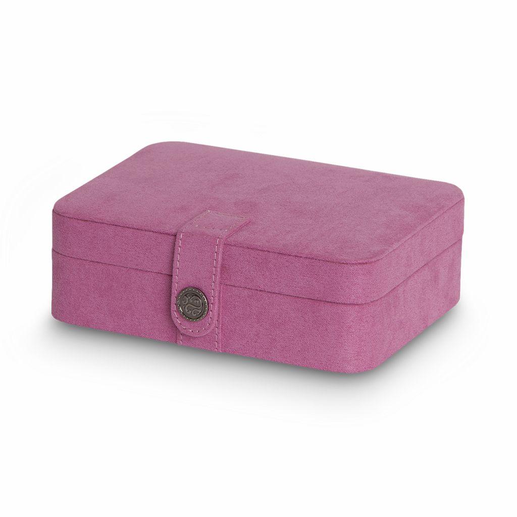 Mele & Co. Plush Fabric Travel Jewelry Box