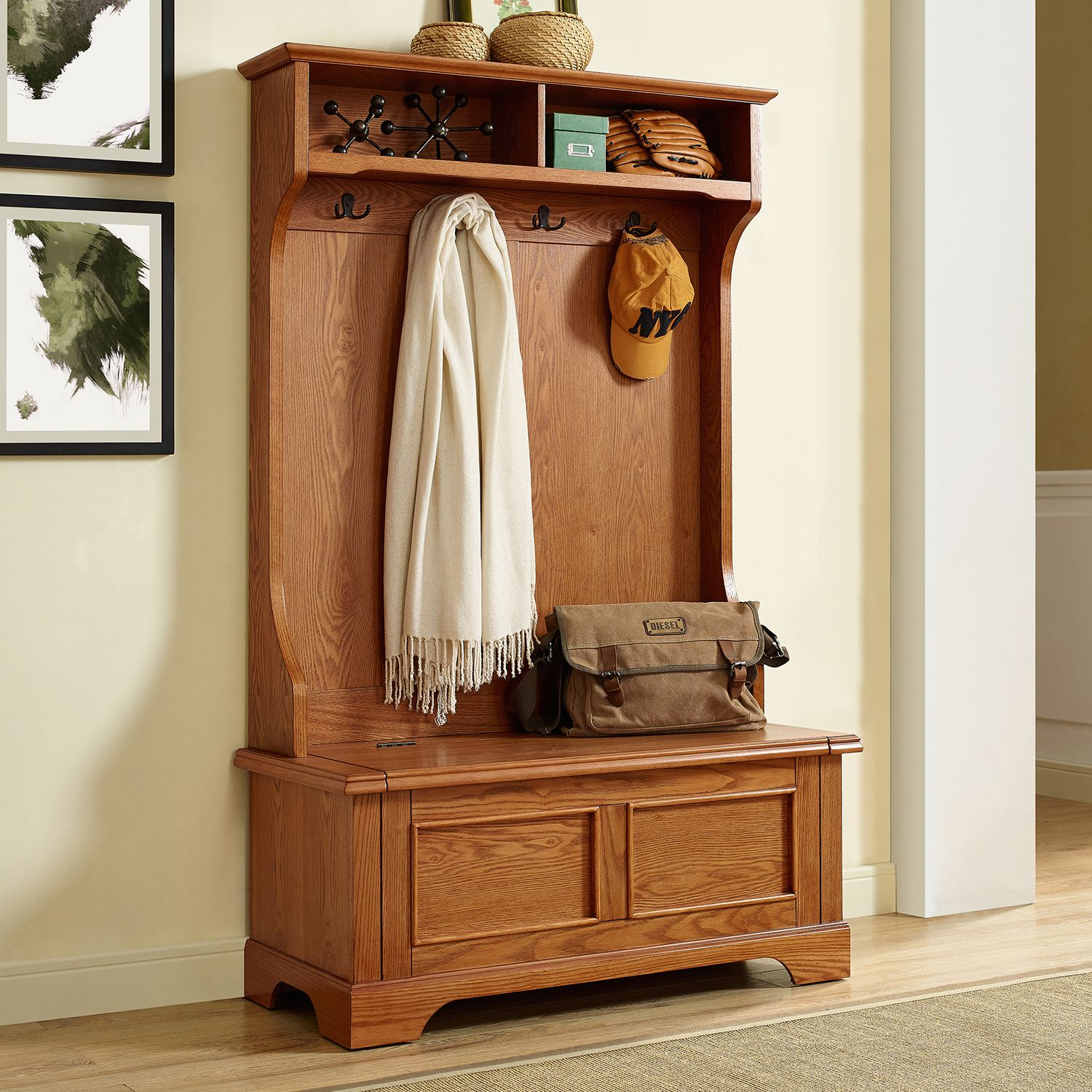 Regular. $559.99. Crosley Furniture Campbell Hall Tree Storage Bench