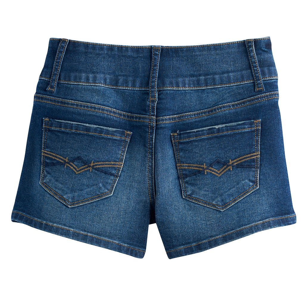 Girls 7-16 Mudd® High-Rise Shortie Denim Shorts