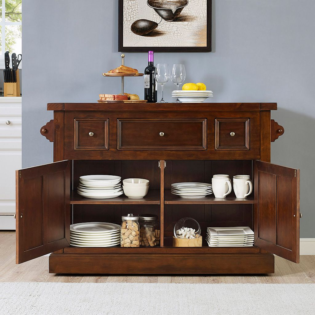 Crosley Furniture Sienna Rolling Kitchen Island