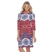 Petite Suite 7 Imperial Tile Shift Dress