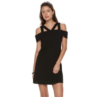 Petite Suite 7 Cold-Shoulder Shift Dress