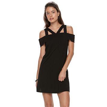 Petite Suite 7 Cold-Shoulder Shift Dress