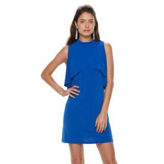 Petite Suite 7 Tiered Overlay Shift Dress