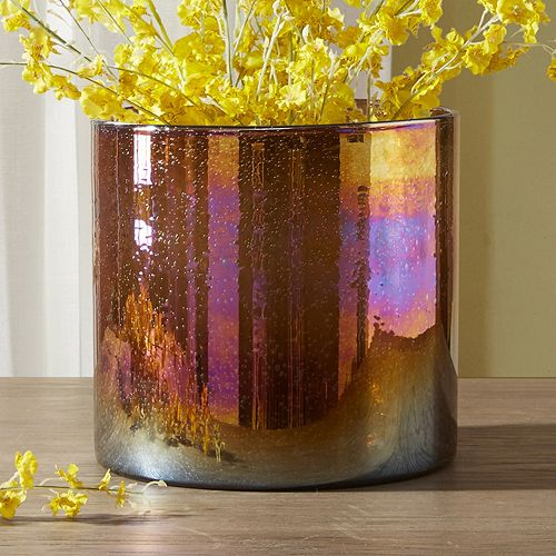 Madison Park Signature Medium Luster Glass Hurricane Vase