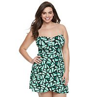 Juniors' Plus Size Candie's® Strapless Petal Hem Dress