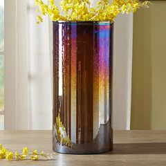 Madison Park Signature Large Luster Glass Hurricane Vase