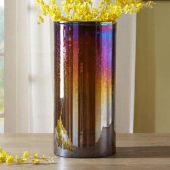 Madison Park Signature Large Luster Glass Hurricane Vase