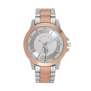 U.S. Polo Assn. Men's Two Tone Watch - USC80524KL