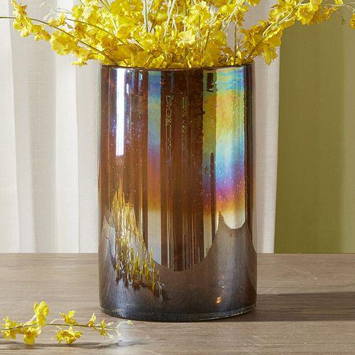 Madison Park Signature Small Luster Glass Hurricane Vase