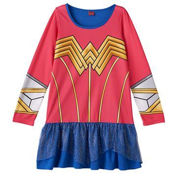 Girls 4-10 DC Comics Wonder Woman Uniform Dorm Nightgown