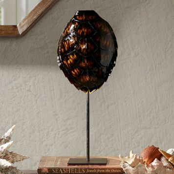 Madison Park Signature Dark Brown Artificial Turtle Shell Table Decor