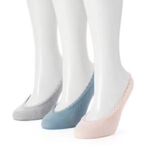 Women's Keds 3-pk. Solid Lace Liner Socks