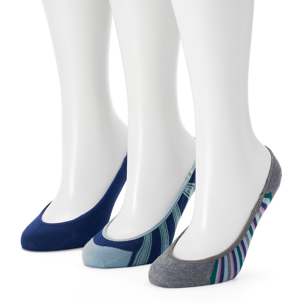 Women's Keds 3-pk. Striped Liner Socks