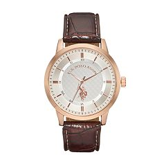 U.S. Polo Assn. Men's Leather Watch - USC50481KL