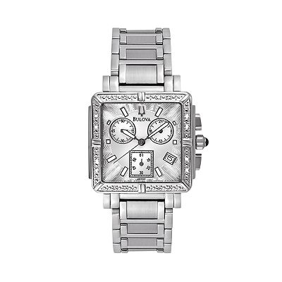 Bulova Marine Star Stainless Steel Diamond Accent Chronograph Watch - Women