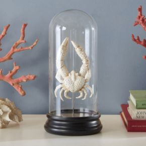Madison Park Signature Artificial Bleached Small Crab Table Decor