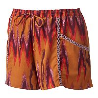 Juniors' About A Girl Print Shortie Shorts