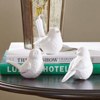Madison Park Signature Porcelain Bird Table Decor 3-piece Set